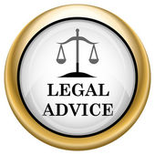 Icono de aviso legal — Foto de Stock