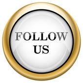 Follow us icon — Stock Photo