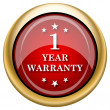 Stock Photo: 1 year warranty icon