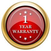 Icono de garantía 1 año — Foto de Stock
