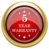 5 year warranty icon — Stock Photo