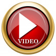Stock Photo: Video play icon
