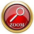 Zoom with loupe icon — Stockfoto