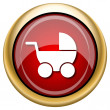 Baby carriage icon — Stock Photo #33760273