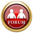 Stock Photo: Forum icon