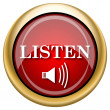 Stock Photo: Listen icon