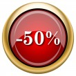 Stock Photo: 50 percent discount icon