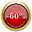 Stock Photo: 60 percent discount icon