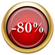Stock Photo: 80 percent discount icon