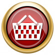 Shopping basket icon — 图库照片