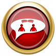 Foto de Stock  : Chat icon - men in bubble