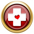 Foto de Stock  : Cross with heart icon