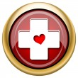 Stock Photo: Cross with heart icon