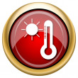 Stock Photo: Sun and thermometer icon