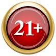 Stock Photo: 21 plus icon