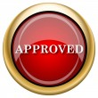 Approved icon — Stock Photo #33762413