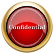 Stock Photo: Confidential icon