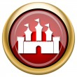 Castle icon — Stock Photo