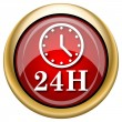 Stock Photo: 24H clock icon