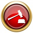 Stock Photo: Judge hammer icon