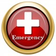 Emergency icon — Stockfoto