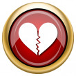 Foto de Stock  : Broken heart icon