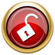 Open lock icon — Stock Photo #33763781