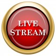 Stock Photo: Live stream icon