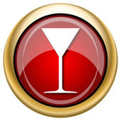 Martini glass icon — 图库照片