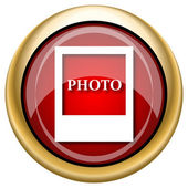 Photo icon — Foto de Stock