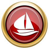 Sailboat icon — Stock Photo