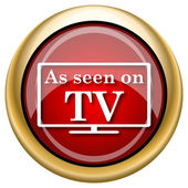 As seen on TV icon — 图库照片