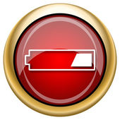 1 third charged battery icon — 图库照片