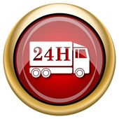 иконка грузовик доставки 24h — Стоковое фото