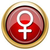 Female sign icon — Stock Photo