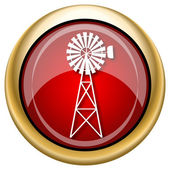 Classic windmill icon — Stock Photo