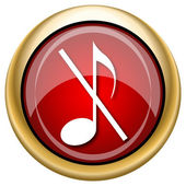 Musical note - no sound icon — Stockfoto
