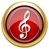 Musical note icon — 图库照片
