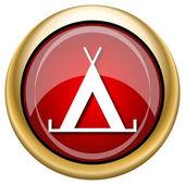Tent icon — Стоковое фото