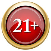 21 plus icon — Stock Photo