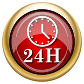 24H clock icon — Photo