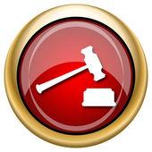 судья молот значок — Стоковое фото