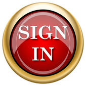 Sign in icon — Foto Stock