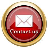Contact us icon — Stock Photo