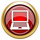 Laptop icon — Stock Photo