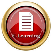 ícone de e-learning — Foto Stock