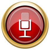 Mikrofon simgesi — Stok fotoğraf
