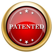 Patented icon — Stock Photo