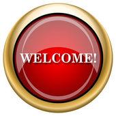 Welcome icon — Стоковое фото