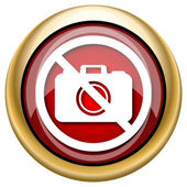 Forbidden camera icon — Stock fotografie